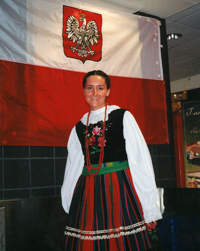 Emily in traditional Polish dress
